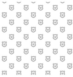simple police office badge seamless pattern with vector image