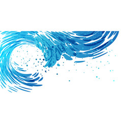 Splash wave background vector