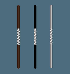 stick ninja weapon isolated on gray background vector image