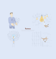 Successful businessman generating ideas male vector