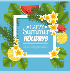 summer holidays floral decoration vector image