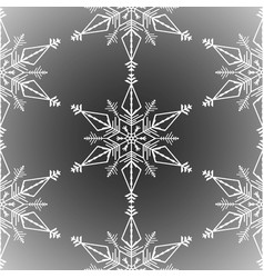 winter seamless background with white snowflakes vector image