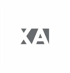 Xa logo monogram with negative space style design vector