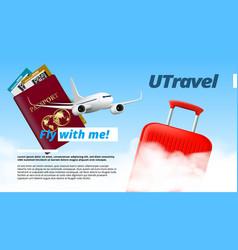 You travel air company logo template design vector