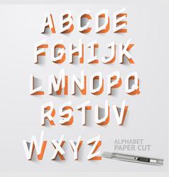 alphabet paper cut designs vector image vector image