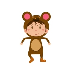 Child Wearing Costume of Bear vector image vector image