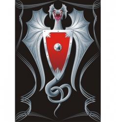 iron serpent vector image vector image