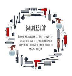 set of hairdresser objects in flat style isolated vector image