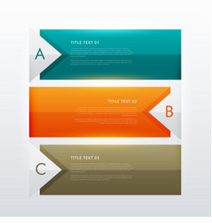 three steps modern colorful infographic design vector image vector image