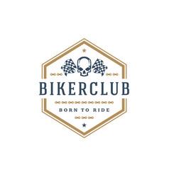 Biker club logo template design element vector