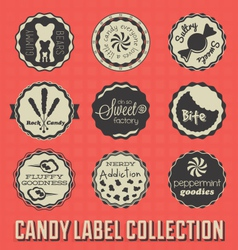 Candy and Sweets Labels vector image vector image