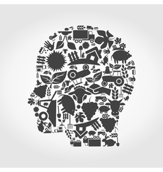 Head agriculture vector image