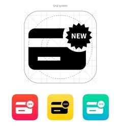 New credit card icon vector image