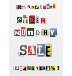Background of cyber monday sale vector