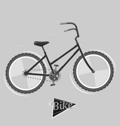black and white bike cycling concept bicycle vector image vector image