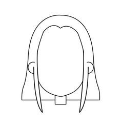 cartoon face of saint virgin mary vector image