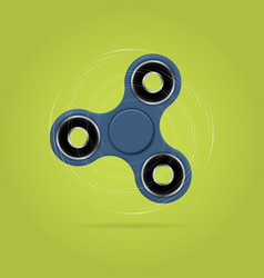 Rotating fidget spinner stress relieving toy 3d vector