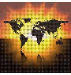 world map black dots vector image