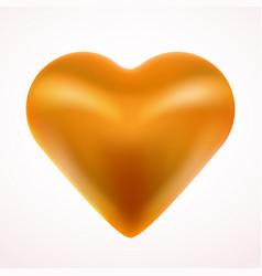 yellow valentine heart love concept vector image