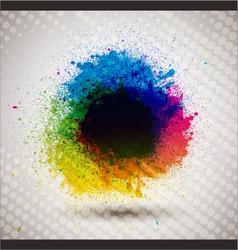 colorful ink splash banner vector image