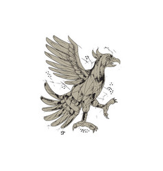 cuauhtli glifo eagle symbol low polygon vector image vector image