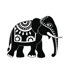 Decorated elephant icon simple style vector image vector image