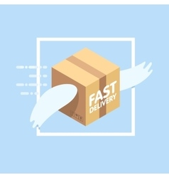 Fast delivery service flat vector image vector image