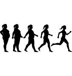 Fat to fit woman vector image