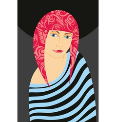 Girl Pink Hair vector image