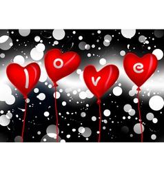 love balloons vector image
