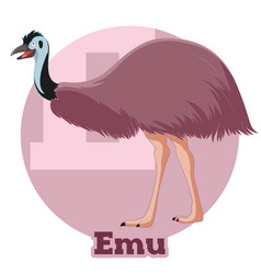 Abc cartoon emu vector