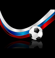 abstract black background with soccer ball and vector image
