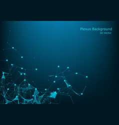 abstract illuminated particles and lines plexus vector image