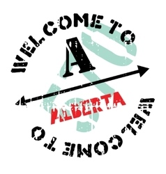 Alberta stamp rubber grunge vector