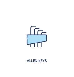 Allen keys concept 2 colored icon simple line vector