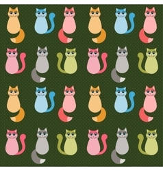 Background with colorful cats vector
