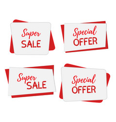 banners for saleposters template mock up vector image