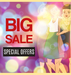 big sale and fashion special offer vector image