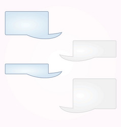 blank messaging text boxes vector image