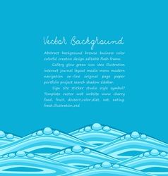 blue background with ocean waves vector image