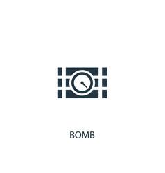Bomb icon simple element bomb vector