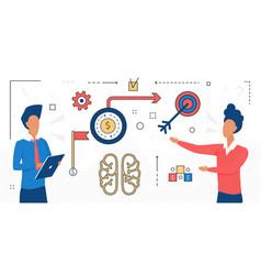 Business teamwork to achieve success team goals vector