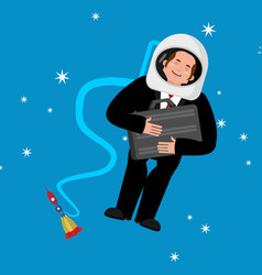 businessman in space business astronaut boss vector image