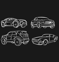 Car simple modern automobile vector