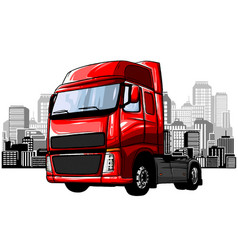 Cartoon garbage truck isolated on white background vector