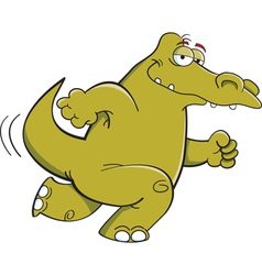 Cartoon running alligator vector