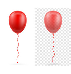 Celebratory red transparent balloons pumped vector