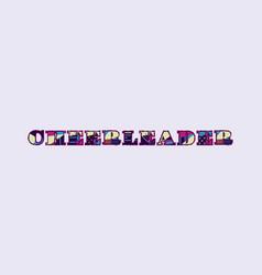 Cheerleader concept word art vector