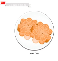 Chinese Moon Cake for Mid Autumn Festival vector image