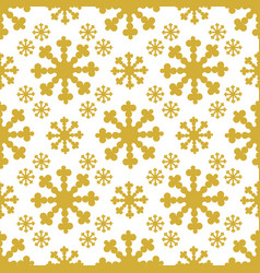 Christmas seamless pattern with big flake vector